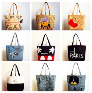 Loving Cartoon Printing Canvas Bags (PA-028) pictures & photos