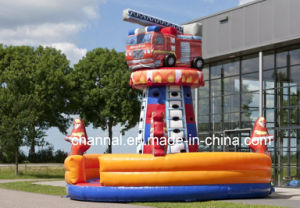 China 2016 New Inflatable Firetruck Climbing Wall Exciting Outdoor pictures & photos