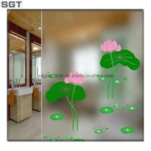 Toughened Acid Etched Glass for Decoration pictures & photos