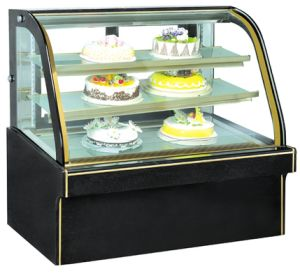 Marble Double-Arc Glass Cake Showcase pictures & photos