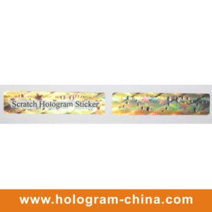 Hologram Scratch off Adhesive Label Sticker pictures & photos