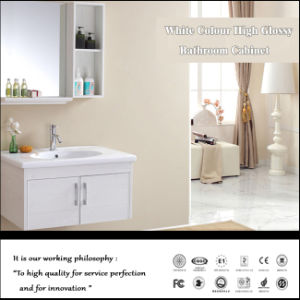 White Colour High Glossy Bathroom Cabinet (ZH-204) pictures & photos