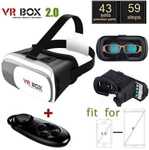 3D Vr Virtual Game Glasses Cardboard Kit Vr Box 2.0 Cardboard Headset+ Bluetooth Controller pictures & photos