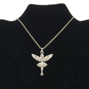 Silver Angel Girl Charms Necklace for Kids Jewelry (FN16040807)
