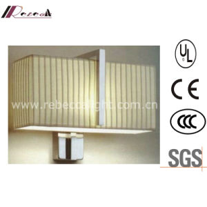 Hotel Decorative Satin Nickel Wall Light with Fabric Shade pictures & photos