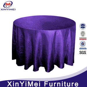 Purple Jacquard Pattern Table Cloth for Wedding pictures & photos