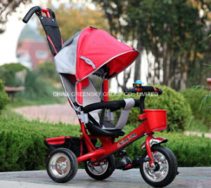 China Good Quality 4 in 1 Pedal Trike for Child Push Tricycle for Children pictures & photos