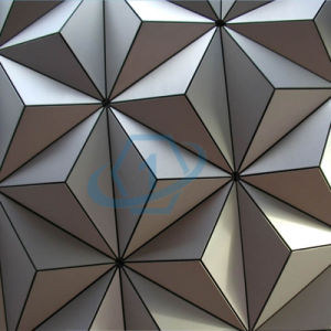 Onebond 3D Stand-up Aluminum Wall Cladding Panels pictures & photos