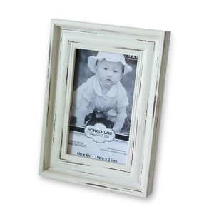White Wash Finished PS Photo Frame for Home Decoration pictures & photos