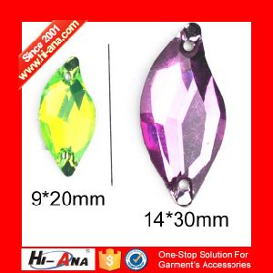 Cooperate with Brand Companies Various Colors Rhinestone Appliques to Sew pictures & photos