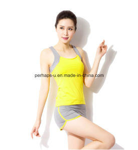 Splicing Quickly Dry Yoga Clothes Sport Vest Women Wear pictures & photos