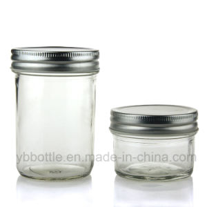 120ml Clear Glass Bottle, Mason Jar with Lid