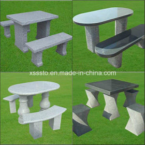 Outdoor Garden Granite Stone Tables and Chairs/Benches pictures & photos