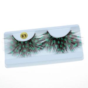 Festival Green Feather Handmade False Eyelashes Mfe2008 pictures & photos