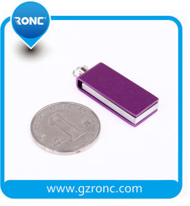 Metal Material Mini USB Flash Drive with Keychain pictures & photos