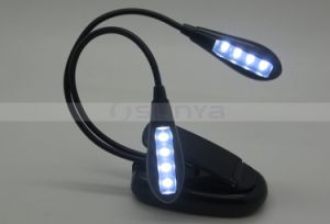 Logo Printing 2 Brightness Settings Rechargeable Extra-Bright 8 LED Clip Book Light pictures & photos