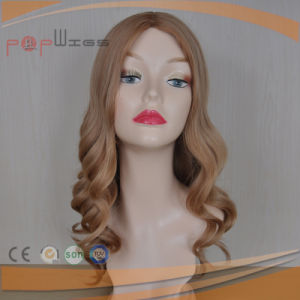 Hot Selling Full Human Blond Golden Hair Lace Women Wig pictures & photos