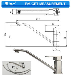 Lower Shape Stainless Red Kitchen Faucet (AB106) pictures & photos