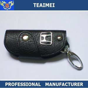 Customs Car Logo Black Leather Key Pouch Cover Car Key Case pictures & photos