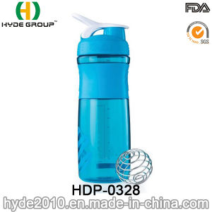 800ml BPA Free Plastic Shaker Bottle with Ss Ball, 2017 Plastic Protein Shaker Bottle pictures & photos