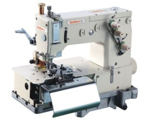 Double Needle Flat-Bed Making Beltloop Sewing Machine pictures & photos