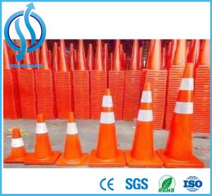 Fluorescent Orange Flexible Road Safety PVC Traffic Cone pictures & photos