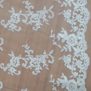 Embroidery Bridal Lace Textile for Wedding Gown