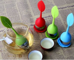 Promotional Silicone Tea Tool with Rustless Steel Infuser St12 pictures & photos