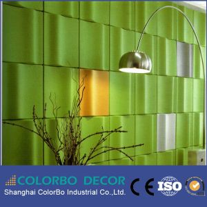 New Soundproof Material 3D Polyester Fiber Acoustic Wall Panel pictures & photos