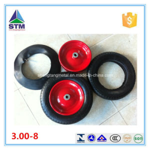 Factory Inflatable Pneumatic 3.00-8 360mm Air Rubber Wheel pictures & photos
