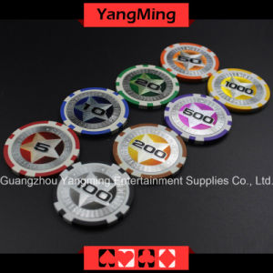 12g Ultimate Sticker/ Poker Chips European Clay Laser Casino  Chips  (YM-CY02) pictures & photos