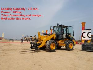 Multi-Function Strong Wheel Loader (H928) with Road Sweeper pictures & photos