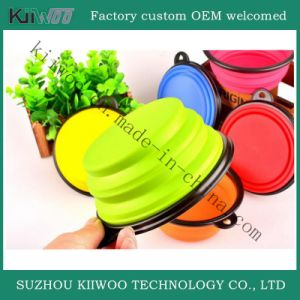 Collapsible Silicone Animal Feeding Bowls Silicone Rubber Folding Bowl pictures & photos