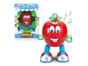 Cartoon Children Battery Operated Dancing Apple Toy (H4871011) pictures & photos