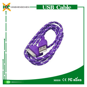 Hot Alloy Nylon Braided USB Cable for iPhone 4 pictures & photos