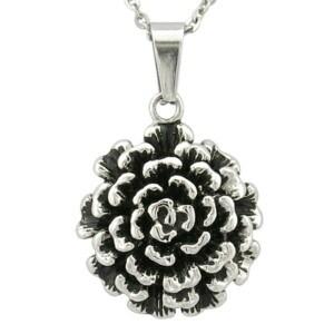 Manufacture Rose Shape Mop Black Pendant pictures & photos