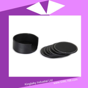 PU Coaster 4PCS in Set with Logo Embossed P016-019 pictures & photos