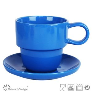 High Quality Solid Color Cup and Saucer pictures & photos