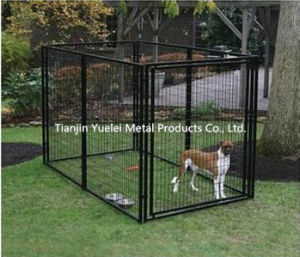 Kennelmaster 10 FT. X 5 FT. X 6 FT. Black Powder-Coated Chain Link Boxed Kennel pictures & photos