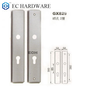 Room Door Stainless Steel Door Handle Plate (GX829)