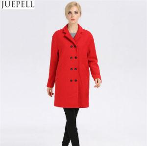 Women Winter Coat Women Fashion Long Wool Winter Coat pictures & photos