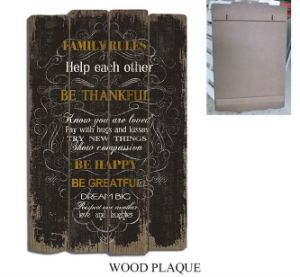USA Style Wooden Plaque Wood Craft Signs for Home Decoration pictures & photos