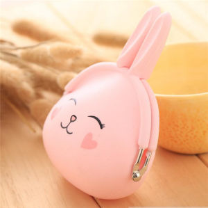 Customized Fashion Rabbit Rubber Wallet Silicone Coin Purse pictures & photos