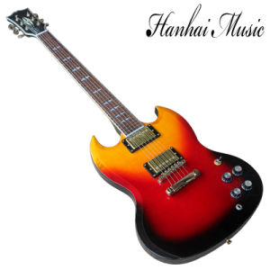 Hanhan Music/Sg Style 3 Colors Electric Guitar with Gold Hardware pictures & photos