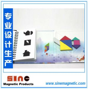 Hot Book-Style Magnetic Tangram Puzzle Brain Teaser Kids Montessori Iq Educational Game Toy for Children 72 Challenges pictures & photos