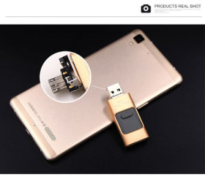 Wholesale 3 in 1 OTG USB Flash Drive 32GB pictures & photos