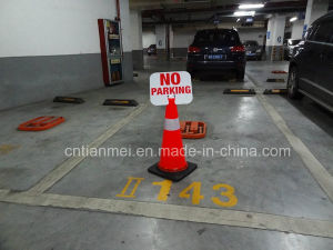 New Design PVC Traffic Safety Cone with No Parking Sign pictures & photos