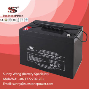 Rechargeable SMF Battery 12V 90ah AGM Type UPS Battery pictures & photos