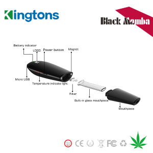 Kingtons Vaporizer Singapore Ecig Price Blk Mamba Dry Herb Pen with Fast Shipping pictures & photos