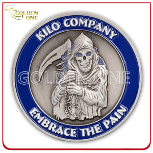 Custom 3D Devil Antique Silver Metal Corporate Coin pictures & photos